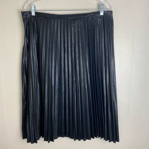 Melissa Paige faux leather accordion pleated skirt